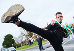 Senior World Tae Kwon Do champion Jamie Williams, was Grand Marshall at the St Patrick's Day parade in Sixmilebridge. Photograph by John Kelly.