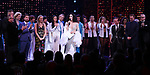 Stephanie J. Block, Bob Mackie, Jeffrey Seller, Jason Moore, Rick Elice and Christopher Gattelli during the Broadway Opening Night Curtain Call of 'The Cher Show'  at Neil Simon Theatre on December 3, 2018 in New York City.