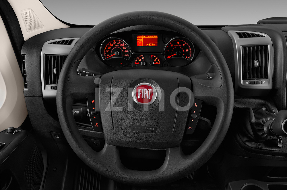 Car pictures of steering wheel view of a 2016 Fiat Ducato MultiJet-MH2 4 Door Cargo Van Steering Wheel