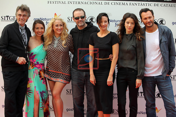 49 Festival Internacional de Cinema Fantastic de Catalunya-Sitges 2016.<br /> Photocall Psychopnia.<br /> Danny Bellens, Nikita Black, Jennifer Blanc, Michael Biehn, Vedette Lim, Brianne Davis &amp; Mark Gent.