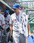 New York Mets relief pitcher Seth Lugo (67) leaves the dugout following the game against the Washington Nationals at Nationals Park in Washington, D.C. on Wednesday, August 1, 2018.  The Nationals won the game 5 - 3.  Lugo gave-up two runs in the eighth inning that was the Nationals' margin of victory.<br /> Credit: Ron Sachs / CNP<br /> (RESTRICTION: NO New York or New Jersey Newspapers or newspapers within a 75 mile radius of New York City)