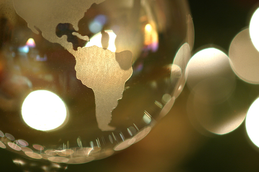 Glass globe Christmas tree ornament
