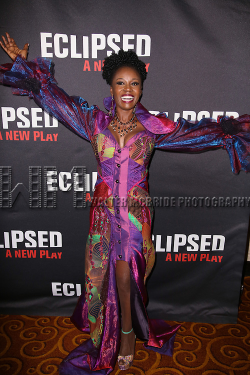 Akosua Busia attends the 'Eclipsed' broadway opening night after party at Gotham Hall on March 6, 2016 in New York City.