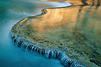 Travertine terraces <br />