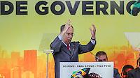 SAO PAULO, SP, 20 FEVEREIRO 2013 -  10 ANOS DO PARTIDO DOS TRABALHADORES GOVERNO FEDERAL NO PODER -  O presidente nacional do PT Rui Falcao  durante a festa do Partido dos Trabalhadores (PT) para celebrar 33 anos do partido e dez anos no comando do Governo Federal, no Holiday Inn Parque Anhembi, na zona norte de São Paulo, nesta quarta-feira, 20. FOTO: WILLIAM VOLCOV / BRAZIL PHOTO PRESS