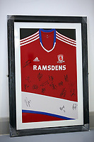 A Middlesbrough top be sold at auction by Swansea City FC Community Trust. Fairwood Training Complex in Swansea, Wales, UK. Wednesday 29 March 2017