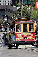San Francisco, California, Usa, June 26, 2007. Cable car in San Francisco