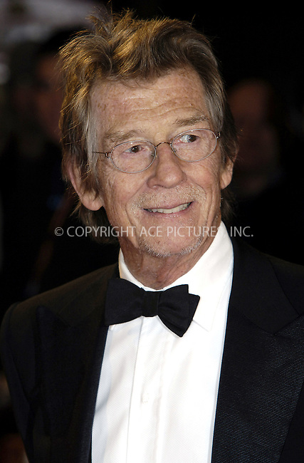 WWW.ACEPIXS.COM . . . . .  ..... . . . . US SALES ONLY . . . . .....John Hurt at Fantastic Mr Fox premiere on the opening night of The Times BFI London Film Festival - 14 October 2009  in London....Please byline: FAMOUS-ACE PICTURES... . . . .  ....Ace Pictures, Inc:  ..tel: (212) 243 8787 or (646) 769 0430..e-mail: info@acepixs.com..web: http://www.acepixs.com