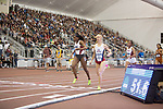 COLLEGE STATION, TX - MARCH 11: Daina Harper of Arkansas and Sage Watson of Arizona compete in the women's 400 meter dash during the Division I Men's and Women's Indoor Track & Field Championship held at the Gilliam Indoor Track Stadium on the Texas A&M University campus on March 11, 2017 in College Station, Texas. (Photo by Michael Starghill/NCAA Photos/NCAA Photos via Getty Images)