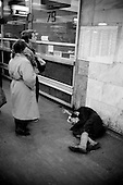 "Moscow, Russia<br /> October, 1992<br /> <br /> Central train station.<br /> <br /> In December 1991, food shortages in central Russia had prompted food rationing in the Moscow area for the first time since World War II. Amid steady collapse, Soviet President Gorbachev and his government continued to oppose rapid market reforms like Yavlinsky's ""500 Days"" program. To break Gorbachev's opposition, Yeltsin decided to disband the USSR in accordance with the Treaty of the Union of 1922 and thereby remove Gorbachev and the Soviet government from power. The step was also enthusiastically supported by the governments of Ukraine and Belarus, which were parties of the Treaty of 1922 along with Russia.<br /> <br /> On December 21, 1991, representatives of all member republics except Georgia signed the Alma-Ata Protocol, in which they confirmed the dissolution of the Union. That same day, all former-Soviet republics agreed to join the CIS, with the exception of the three Baltic States."