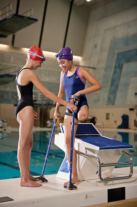 "03/12/2012- Cassidy Sheng (right) and Meghan (left)  featured in a photoshoot for the Canadian Paralympic Committee Recruitment Ad Campaign entitled ""It's More Than Sport"". Photo Credit: Canadian Paralympic Committee/Frédéric Solenthaler"