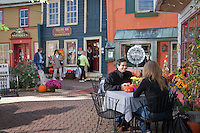 Couple at an outdoor cafe, Frenchtown, New Jersey