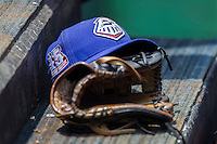Round Rock Express hat on April 27, 2014 at the Dell Diamond in Round Rock, Texas. (Andrew Woolley/Four Seam Images)