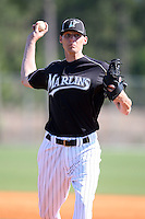 March 20, 2010:  Pitcher Joseph O'Gara of the Florida Marlins organization during Spring Training at the Roger Dean Stadium Complex in Jupiter, FL.  Photo By Mike Janes/Four Seam Images