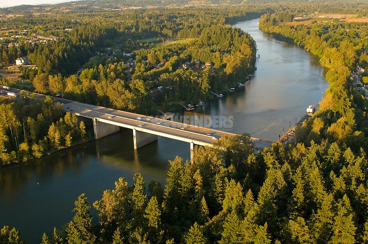 I-5 Bridge on the Willamette River in Wilsonville, Oregon