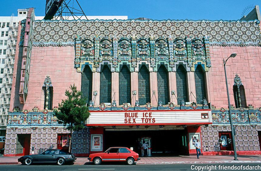 Los Angeles: Mayan Theater, 1040 S. Hill Street, 1926-27. Morgan, Walls & Clements.  Photo '86.