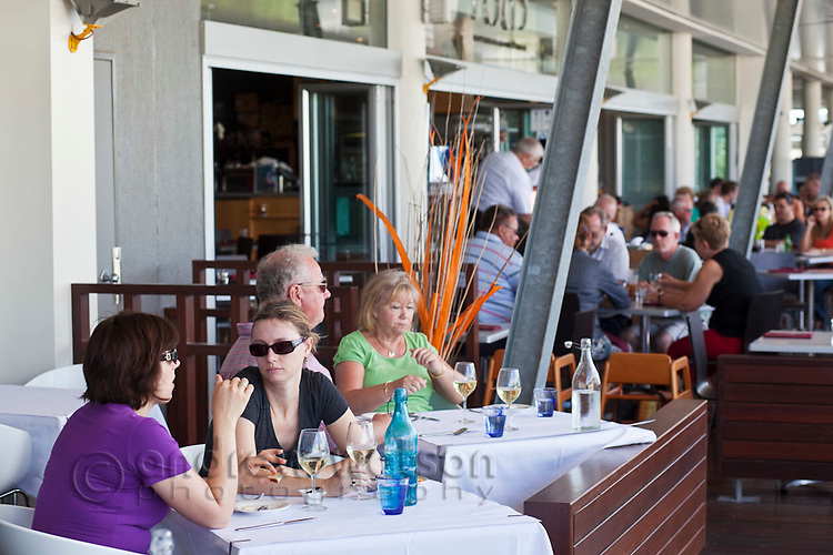 Diners at Tha Fish.  The Pier, Cairns, Queensland, Australia