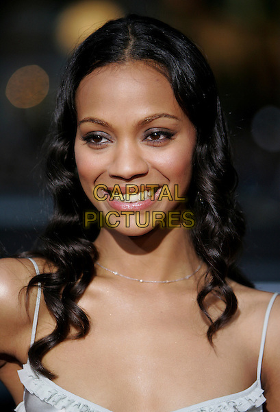 "ZOE SALDANA.Columbia Pictures' World Premiere of ""Guess Who"" held at The Grauman's Chinese Theatre in Hollywood, California .March 13th, 2005.headshot portrait.www.capitalpictures.com.sales@capitalpictures.com.Supplied By Capital PIctures"