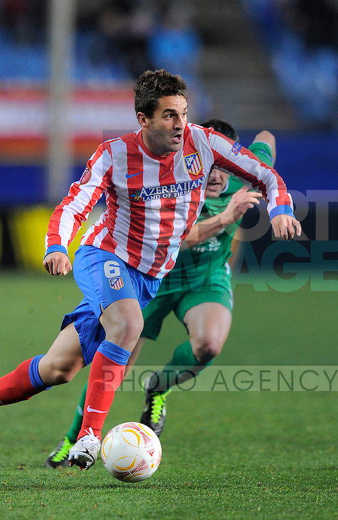Filipe Luis of Atletico Madrid - UEFA Europa League Round of 32 - Atletico Madrid vs Rubin Kazam - Vincente Calderon Stadium - Madrid - 14/02/13 - Picture Simon Bellis/Sportimage