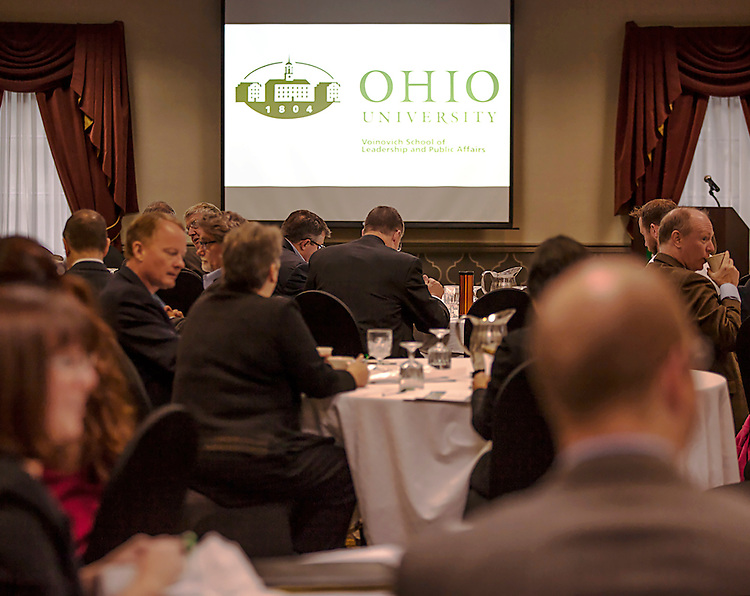 Members of CUPSO (Consortium of University Public Service Organizations) at the Opening Plenary Session in the Cutler Ballroom at the Ohio University Inn, Athens, OH, on Thursday, April 7, 2016. -- The Voinovich School of Leadership and Public Affairs is hosting the CUPSO (Consortium of University Public Service Organizations) annual conference at Ohio University in Athens, OH, from April 6-8, 2016. © Ohio University / Sonja Y. Foster