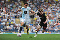 Blackburn Rovers' Lewis Travis under pressure from Bolton Wanderers' Luca Connell<br /> <br /> Photographer Kevin Barnes/CameraSport<br /> <br /> The EFL Sky Bet Championship - Blackburn Rovers v Bolton Wanderers - Monday 22nd April 2019 - Ewood Park - Blackburn<br /> <br /> World Copyright © 2019 CameraSport. All rights reserved. 43 Linden Ave. Countesthorpe. Leicester. England. LE8 5PG - Tel: +44 (0) 116 277 4147 - admin@camerasport.com - www.camerasport.com