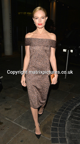 NON EXCLUSIVE PICTURE: MATRIXPICTURES.CO.UK<br /> PLEASE CREDIT ALL USES<br /> <br /> WORLD RIGHTS<br /> <br /> Kate Bosworth spotted in London's Mayfair on her way to BBC studios to appear on The One Show. <br /> <br /> FEBRUARY 1st 2017<br /> <br /> REF: LTN 17252