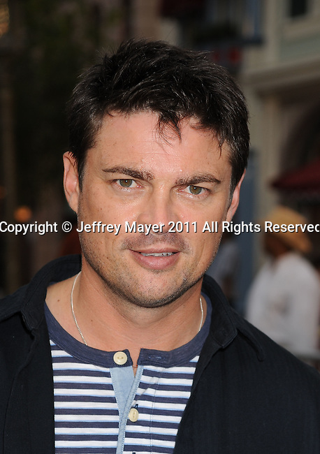 "ANAHEIM, CA - MAY 07: Karl Urban arrives to the ""Pirates Of The Caribbean: On Stranger Tides"" World Premiere at Disneyland on May 7, 2011 in Anaheim, California."