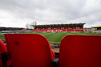 A general view of Sincil Bank, home of Lincoln City FC<br /> <br /> Photographer Chris Vaughan/CameraSport<br /> <br /> The EFL Sky Bet League Two - Lincoln City v Northampton Town - Saturday 9th February 2019 - Sincil Bank - Lincoln<br /> <br /> World Copyright &copy; 2019 CameraSport. All rights reserved. 43 Linden Ave. Countesthorpe. Leicester. England. LE8 5PG - Tel: +44 (0) 116 277 4147 - admin@camerasport.com - www.camerasport.com