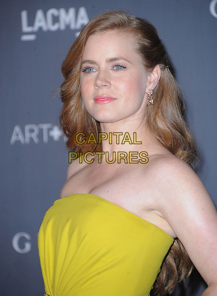 Amy Adams .at The LACMA 2012 Art and Film Gala held at LACMA in Los Angeles, California, USA, October 27th 2012..portrait headshot strapless yellow                                                             .CAP/RKE/DVS.©DVS/RockinExposures/Capital Pictures.
