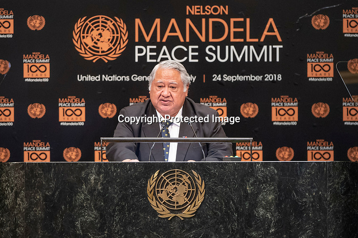 Opening Plenary Meeting of the Nelson Mandela Peace Summit<br /> <br /> His Excellency Tuilaepa Sailele MALIELEGAOIPrime Minister and Minister for Foreign Affairs and Tradeof the Independent State of Samoa