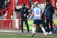 Brighton manager Hope Powell during Brighton & Hove Albion Women vs Arsenal Women, Barclays FA Women's Super League Football at Broadfield Stadium on 12th January 2020