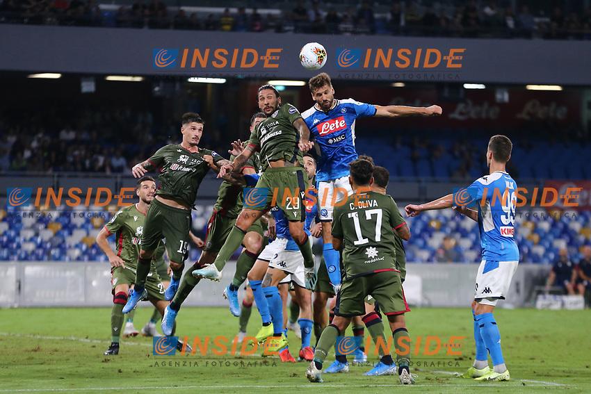 Fernando Llorente of Napoli and Lucas Castro of Cagliari compete for the ball<br /> Napoli 25-9-2019 Stadio San Paolo <br /> Football Serie A 2019/2020 <br /> SSC Napoli - Cagliari SC<br /> Photo Cesare Purini / Insidefoto