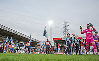 Captain Goalkeeper Matt Ingram of Wycombe Wanderers leads the team out during the Sky Bet League 2 match between Wycombe Wanderers and Crawley Town at Adams Park, High Wycombe, England on 28 December 2015. Photo by Andy Rowland / PRiME Media Images