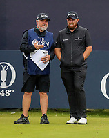 210719 | The 148th Open - Final Round<br /> <br /> Shane Lowry of Ireland with his caddie Brian 'Bo' Martin on the 1st during the final round of the 148th Open Championship at Royal Portrush Golf Club, County Antrim, Northern Ireland. Photo by John Dickson - DICKSONDIGITAL