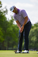 Jon Rahm (ESP) sinks his birdie putt on 2 during round 2 of the 2019 Charles Schwab Challenge, Colonial Country Club, Ft. Worth, Texas,  USA. 5/24/2019.<br /> Picture: Golffile   Ken Murray<br /> <br /> All photo usage must carry mandatory copyright credit (© Golffile   Ken Murray)