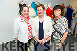 Ann O'Regan (Tralee), Patricia Roche (Tralee) and Mary Morrissey (Ballyfinane) admiring the Gowns of Glory Rose of Tralee dresses through the years in the Kerry County Museum on Friday.