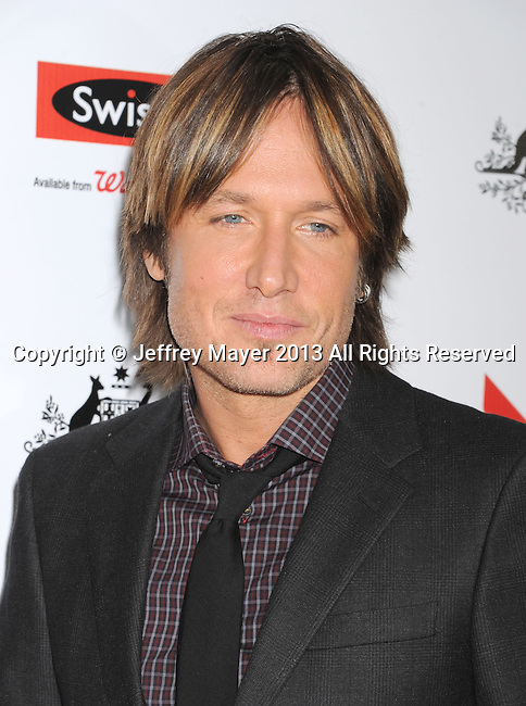 LOS ANGELES, CA - JANUARY 12: Keith Urban attends the 2013 G'Day USA Black Tie Gala at JW Marriott Los Angeles at L.A. LIVE on January 12, 2013 in Los Angeles, California.