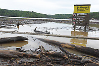 NWA Democrat-Gazette/FLIP PUTTHOFF <br />MUDDY MESS<br />Logs and debris clog the swim beach Wednesday May 3 2017 at Horseshoe Bend park on Beaver Lake. Boaters should use caution, particularly on the south end of the lake, because of floating debris. The lake rose several feet after several rounds of rain.