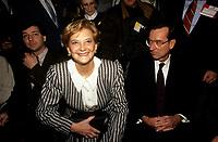 Andree Simard la conjointe du Premier ministre Robert Bourassa <br /> <br /> PHOTO : &copy; Agence Quebec Presse