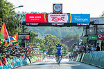 Kasper Asgreen (DEN) Deceuninck-Quick Step wins Stage 3 of the Deutschland Tour 2019, running 189km from Gottingen to Eisenach, Germany. 31st August 2019.<br /> Picture: ASO/Marcel Hilger | Cyclefile<br /> All photos usage must carry mandatory copyright credit (© Cyclefile | ASO/Marcel Hilger)