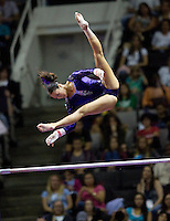 Anna Li of Legacy Elite competes on uneven bars during the 2012 US Olympic Trials competition at HP Pavilion in San Jose, California on June 29th, 2012.