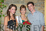 Newly crowned Kerry Rose Katie Nolan, 23 from Castleisland who was representing Omniplex Cinemas with sister Anita and brother William at the 2008 Kerry Rose Selection in The Earl of Desmond Hotel on Saturday night...............   Copyright Kerry's Eye 2008