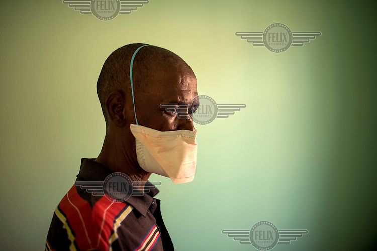 Stokwe Monwabisi, about seven months into treatment procedure for XDR-TB. He is going deaf, one of the side effects of medication he has to take.