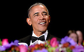 United States President Barack Obama smiles during the White House Correspondents' Association annual dinner on April 30, 2016 at the Washington Hilton hotel in Washington.This is President Obama's eighth and final White House Correspondents' Association dinner.<br /> Credit: Olivier Douliery / Pool via CNP