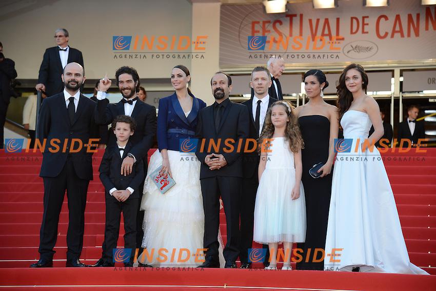Ali Mosaffa ; Tahar rahim ; Elyes Aguis ; Berenice Bejo ; Asghar Farhadi ; Alexandre Mallet Guy ; Sabrina Ouazani ; Jeanne Jestin ; Pauline Burlet .Cannes 17/5/2013 .Festival del Cinema di Cannes .Foto Panoramic / Insidefoto .ITALY ONLY