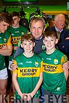Peter Keane with Fergal and Eanna Murphy at the new Kerry shirt launch in the Kerry GAA shop on Friday
