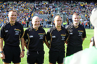 Referees in the 2014 All-Ireland Football Final in 2014.<br /> Photo: Don MacMonagle<br /> <br /> Photo: Don MacMonagle <br /> e: info@macmonagle.com