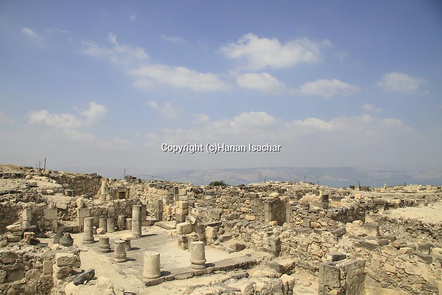 Golan Heights, the Byzantine Northeast Church at Hippos on Mount Susita