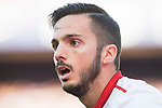 Pablo Sarabia Garcia of Sevilla FC looks on during their La Liga match between Atletico de Madrid and Sevilla FC at the Estadio Vicente Calderon on 19 March 2017 in Madrid, Spain. Photo by Diego Gonzalez Souto / Power Sport Images