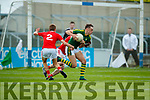 David Clifford Kerry in action against Alan Connor Louth in the All Ireland Minor Football Quarter Finals at O'Moore Park, Portlaoise on Saturday.